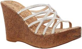 Catwalk Women Silver Heeled Sandals