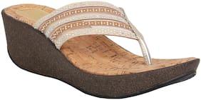 Catwalk Women Beige Heeled Sandals