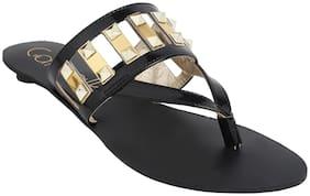 CatwalkBlackSlippersFlats & Sandals