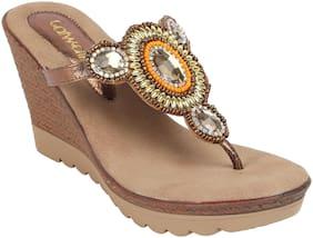 Catwalk Women Bronze Heeled Sandals -