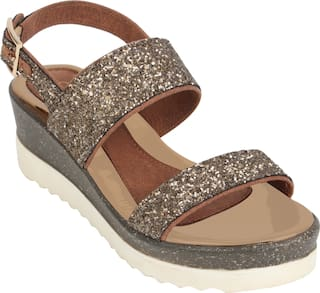 Catwalk Women Bronze Heeled Sandals