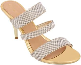 Catwalk Women Gold Sandals