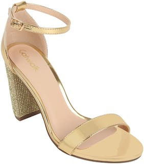 Catwalk Women Gold Sandals
