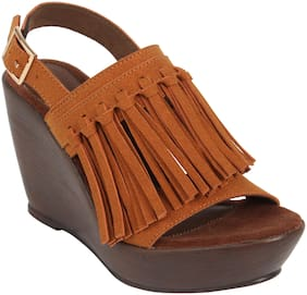 Catwalk Women Tan Wedges