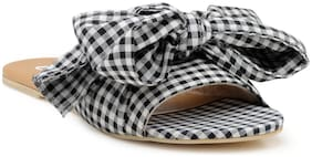 Chalk Studio - Gingham Black Bow Tie - Sandals