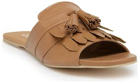 Chalk Studio Women Tan Slippers -
