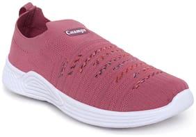 Women Woven Design Sneakers ( Purple )