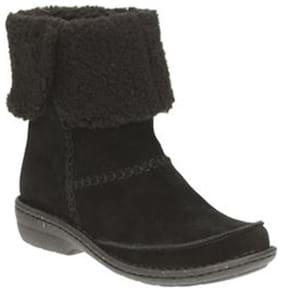 Clarks Avington Grace Black Sde Women Boots