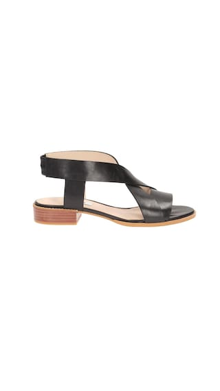 c06180cf3ad173 Buy Clarks Bliss Meadow Black Leather Women Sandals   Floaters ...