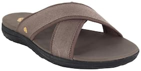 Clarks Brown Synthetic  Slipper