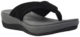 Clarks Women Black Slippers