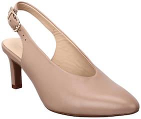 Clarks Women Beige Peep toes