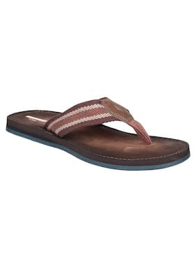 Clarks Lacono Sun Brown Synthetic Flip-Flop