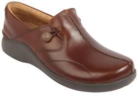 Clarks Women Tan Loafers