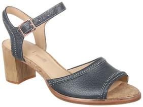 Clarks Women Grey Heeled Sandals