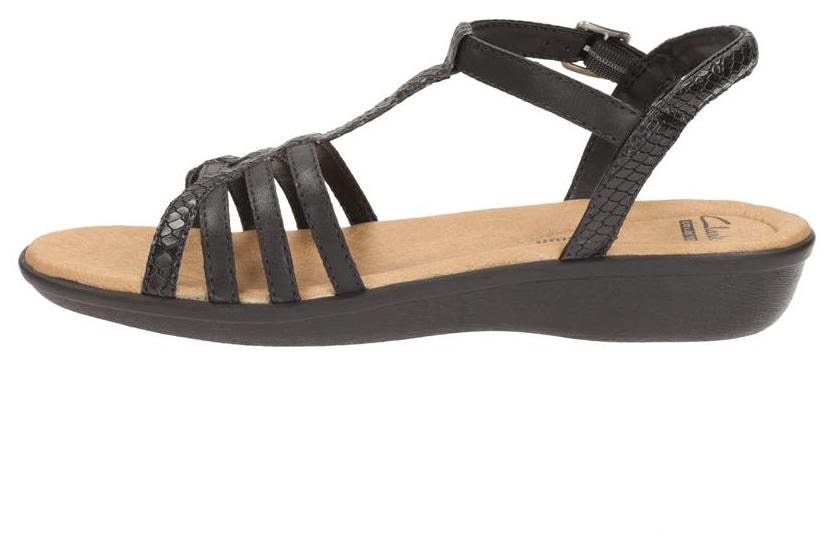 2285e0b7f1d85a Buy Clarks Manilla Porta Black Leather Women Sandals   Floaters Online at  Low Prices in India - Paytmmall.com