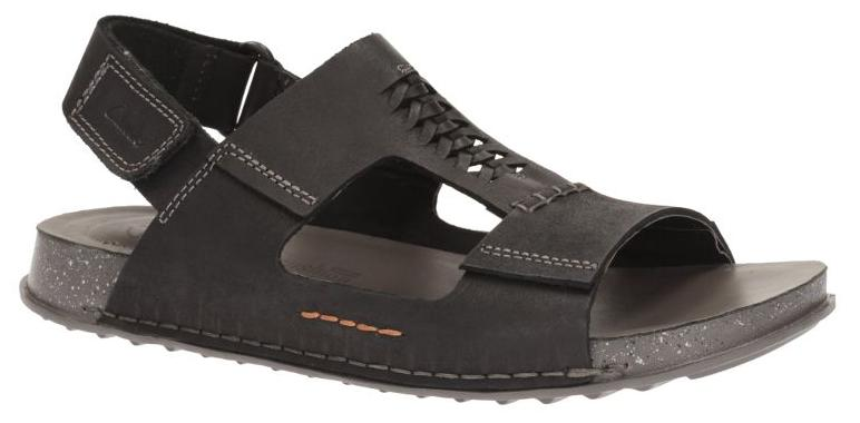 2bf8f4ac1 Buy Clarks Men Keften Bay Black Nubuck Sandals Online at Low Prices in  India - Paytmmall.com