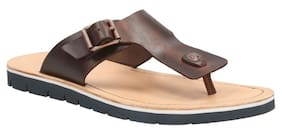 284196a4ad0eb Clarks Men Pennard Flip Brown Leather Sandals