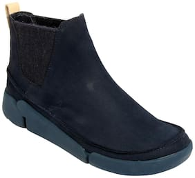 Clarks Women Navy Blue Ankle length Boots