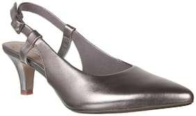 Clarks Women Silver Pumps