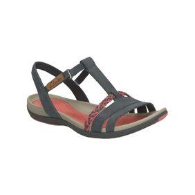 Clarks Women Tealite Grace Navy Nubuck Sandals