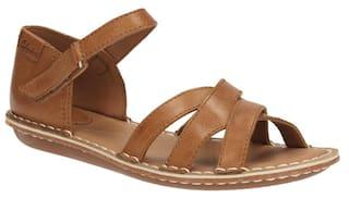 ddf3ab015b750 Buy Clarks Women Tustin Sahara Tan Leather Ankle Strap Sandals ...
