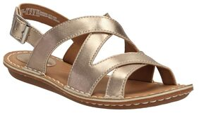 Clarks Women Tustin Spears Metallic Leather Sandals