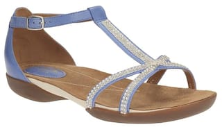 a12b1f98a129 Buy Clarks Women Raffi Star Blue Leather Sandals Online at Low ...