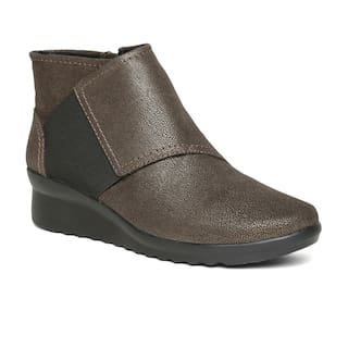 33d8cd4ba37549 Buy Clarks Women Brown Textile Boots Online at Low Prices in India ...