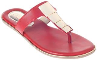 Khadim's Sandals For Women ( Red )
