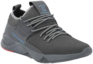 Clymb Running Shoes For Men ( Grey )