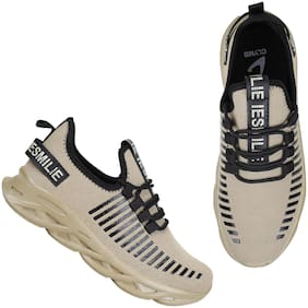 Clymb Men Running Shoes ( Beige )