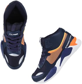 Clymb Men Running Shoes ( Navy Blue )
