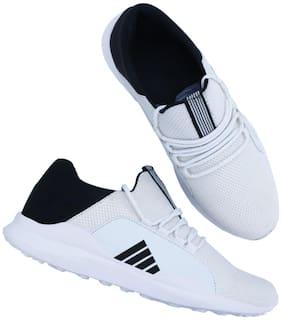 Clymb Men NO. 1 White Running Shoes ( White )