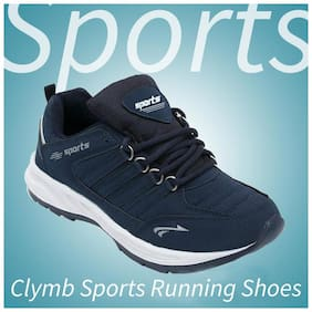 Clymb Men's Cosco Blue Sports Shoes