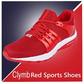 Clymb Men's Mapro Red Sports Shos