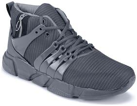 Clymb Men's Zip Mapro Grey Sports Shoes