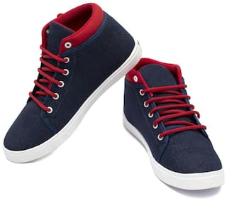 Clymb Men's Live Blue Red Sneakers