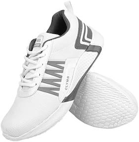Clymb Men Running Shoes ( White )