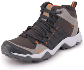 Clymb Men Running Shoes ( Grey & Orange )