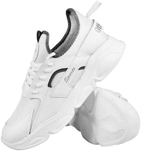 Clymb Men Off Limit White Running Shoes ( White )