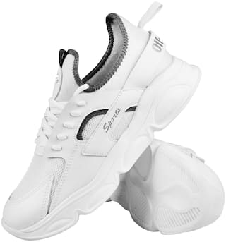 Clymb Running Shoes For Men ( White )