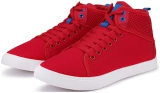Clymb Men Red Classic Sneakers