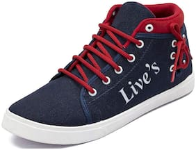 Clymb Men Blue Sneakers - Live's Blue Red