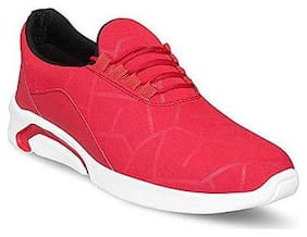 Clymb Men Naysa Red Running Shoes ( Red )