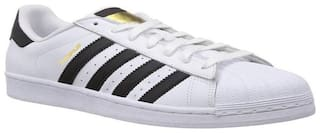 Clymb Superstar White Casual Sneakers For Men's