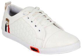 Clymb Men White Sneakers