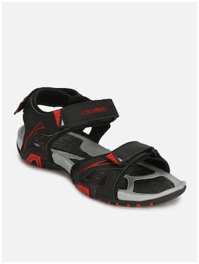 Columbus Men Black Sports Sandals