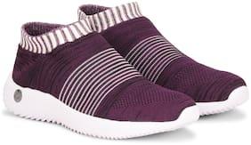 Columbus Women Purple Slip-On Shoes