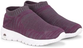 Columbus Women Grey & Purple Slip-On Shoes